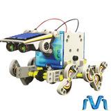 Kit De Robot Impulsado Por Energia Solar 14 En 1 Infantil