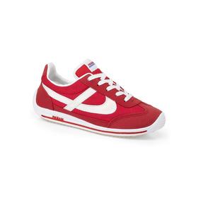 Tenis Casual Urbano Rojo Panam Dama Textil J70723 Udt
