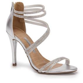 0c1f49ea0 Sandalia Fina Cor Prata Envelhecida Feminino Sao Paulo Jau - Sapatos ...
