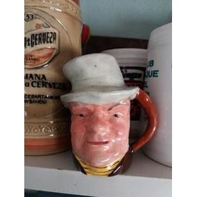 Jarrita Ceramica Pintada A Mano Made In England 10 X 8 Nueva