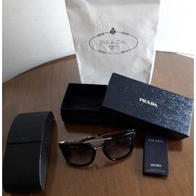 Oculos Prada Spr 50n Novo Caixa 100% Original Estojo - Óculos De Sol ... 4d7b552e72