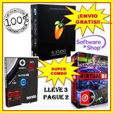 Atomix Virtual Dj 8.2 + Serato Dj 1.9 + F.l Studlo 12