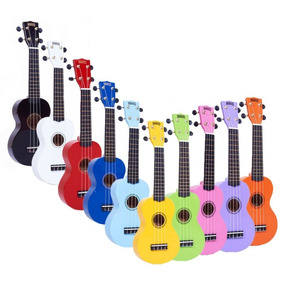 Ukelele Mahalo Mr1 Rainbow Con Funda - Varios Colores
