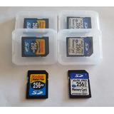 3 X Memoria Sd 256mb Certificada Para Control T1000 Original