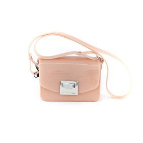 Bolsa Zaxy 17622 Power Bag Verniz Nude Islen Calçados