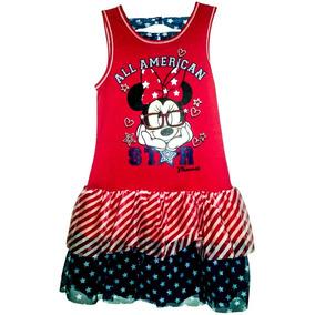 Vestido Americano Minnie Mouse Talla 7 A 8 Original
