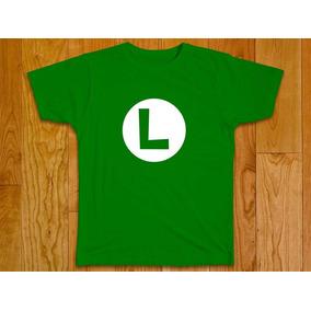 Camisa Blusa Masculina Super Mario Luigi Plus Size 100% Alg