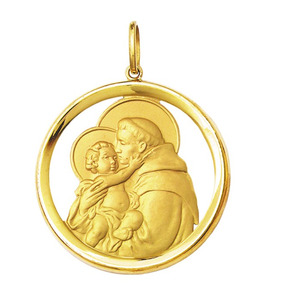Medalha Santo Antonio Proteggimi - Pingentes no Mercado Livre Brasil d04ee7b5cf