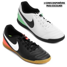 Chuteira Nike Tiempo Natural Branca preta branca - Chuteiras no ... 155ba9633b371