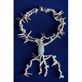 Collar Étnico Perlas Naturales, Nácar Piedras Y Cristales