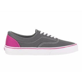 vans gris con rosa