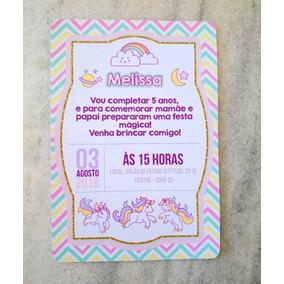 Unicórnio Personalizados Convites De Casamento No Mercado Livre Brasil