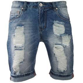 7ea6ba66a0 Short Jeans Masculino Bege - Shorts Femininos no Mercado Livre Brasil