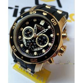 Relógio Invicta Masculino Pro Diver 6981 Original B Ouro 18k