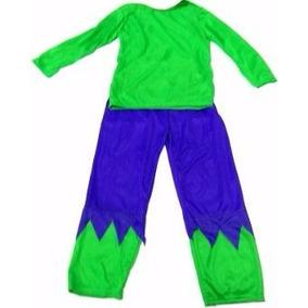 Fantasia Roupa Hulk Infantil Sem Máscara Super Herói