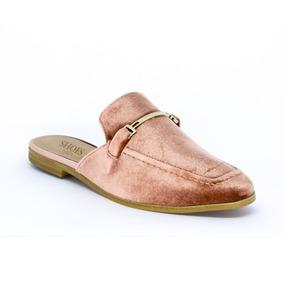 Mocassim Mule Shoes Inbox - Veludo Rosê [87102]