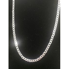 Cadena Plata Ley .925 Tejido Cubano Diamantado 13.6