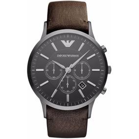 878018b20be Relógio Masculino Emporio Armani Ar2462 Marrom Caixa Ref1413