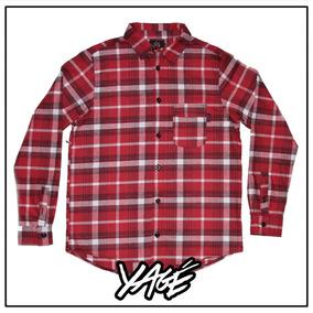 e27fcb4ec5355 Camisa Cuadrille Hombre Roja Y Negra Camisas Chombas Blusas Manga ...