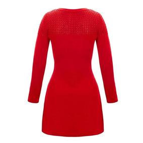 Vestido tejido al crochet para dama