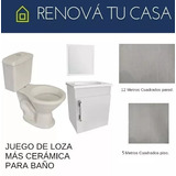 Juego Para Baño Water + Mueble+ Cerámicas- Renová Tu Casa!