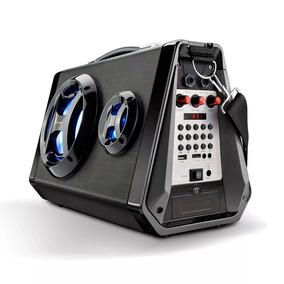 Caixa De Som Multilaser Sp217 Bluetooth Led Amplificada Usb