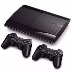 Ps3 Slim 500 Gb + 60 Jogos + 2 Controles + Fifa 18 + Gta 5