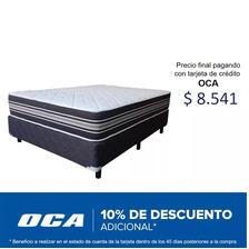 Sommier 2 Plazas Ortopédico - Sin Espuma Plas - Reversible