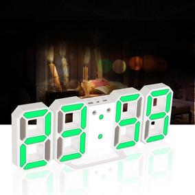 Relógio De Parede Ou Mesa Led Digital Com Alarme Moderno