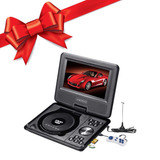 Reproductor De Tv Digital Y Dvd Lcd 7 Portatil Xion Regalo !