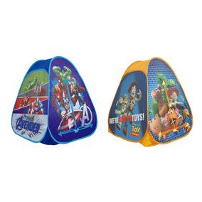 Kit 2 Barraca Toca Infantil Portátil Avengers + Toy Story