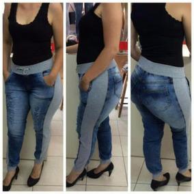 dc8748f035 Calça Feminina Jeans Moletom Cos Punho Hot Pant