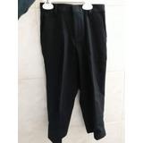 Pantalón De Vestir Negro Con Etiqueta Ck T4 Niño