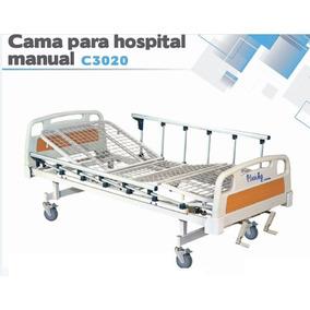 Cama Hospitalaria Manual De 2 Posiciones Con Barandales!!!
