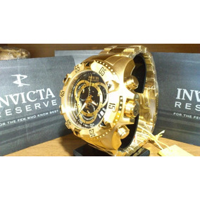 Relogio Gem44543 Invicta Reserve Excursion Preto Gold Lindo 325bcb00ef