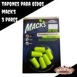 Tapones Para Oídos, Protección Macks 3 Pares