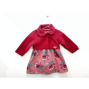 Conjunto Infantil Vestido Bolero Roupa Bebê Inverno Saia