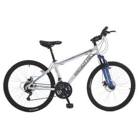 Bicicleta Benotto Xc-5000 Alum R26 21v Sunrace Ddm Plata Gde