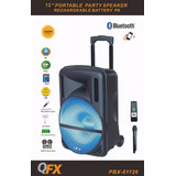 Qfx Bocina Bafle 12 Amplificada Recargable 2600w Bt/mic/led