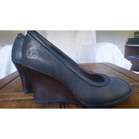 Zapatos Mujer Timberland Taco Chino Boca De Pez Como Nuevos