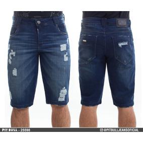 Bermuda Jeans Masculina Pit Bull Original 25598