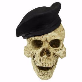 Crânio Boina Preta Soldado Caveira Esqueleto 8747fd6484d