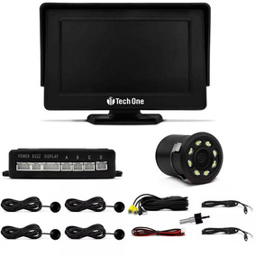 Sensor De Estacionamento Com Monitor E Câmera Visão Noturna