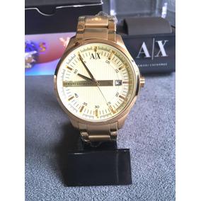 Relogio Armani Exchange Ax2131 Dourado 100%original Completo c2ecfbbc4d