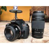 Camara Sony Alpha A290 Con 2 Lentes 50mm Y 75-300