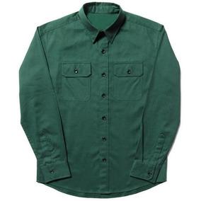 Camisa De Trabajo Cargo Gabardina Verde Garimport