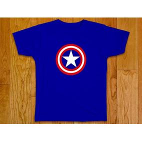 Camiseta Masculina Capitão América Vingadores Plus Size