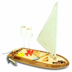 Tabla De Quesos En Forma De Barco Y Sacacorchos Envio Gratis