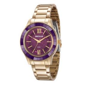 Relógio Feminino Seculus Dourado 23559lpsvds4