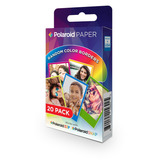 Polaroid 2x3 Pulgadas Rainbow Border Premium Zink Papel F